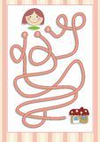 Maze or Labyrinth Game for Preschool Children (9) Stock Photography
