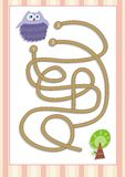 Maze or Labyrinth Game for Preschool Children (1). Find the correct way. Vectorial Royalty Free Stock Images