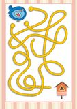 Maze or Labyrinth Game for Preschool Children (5) Stock Image