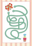 Maze or Labyrinth Game for Preschool Children (7) royalty free stock image