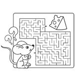 Maze or Labyrinth Game for Preschool Children. Puzzle. Stock Photos