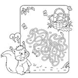 Maze or Labyrinth Game for Preschool Children. Puzzle. Tangled Road.  Stock Photo