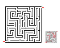 Maze and labyrinth game, vector design on white. Vector stock illustration