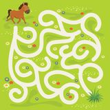 Maze Labyrinth Game,Vector Illustration Royalty Free Stock Images