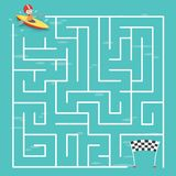 Maze Labyrinth Game,Vector Illustration Stock Photo