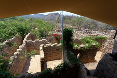 Maze, labyrinth in Lost City, South Africa Stock Photo