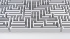 Maze labyrinth problem and solution business strategy success difficulty 3D illustration royalty free illustration
