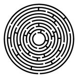 Maze labyrinth. Royalty Free Stock Image