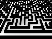 Maze � Labyrinth on white background. 3D Royalty Free Stock Photography