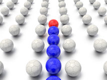 Maze leadership and sports concept Royalty Free Stock Image