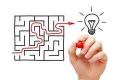 Maze Light Bulb Concept Stock Photos
