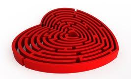 Maze of love royalty free illustration