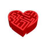Maze of love  on white Stock Image