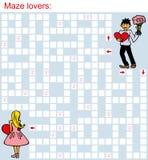 Maze loving couple Royalty Free Stock Images