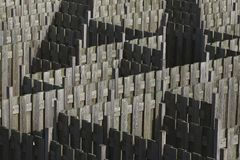 Maze made out of wooden fences Stock Photo