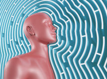 Maze Mind Stock Photos