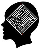 The maze in the mind Royalty Free Stock Photography