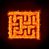 Maze obstacle. Concepts for solutions, challenge, problem solving and many Stock Photos
