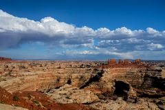 Maze Overlook. I captured this image at the Maze Overlook in the Maze District of the Canyonlands National Park in Utah. This is a very remote and beautiful area royalty free stock photography