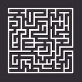 Maze paper labyrinth. Stock Image
