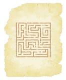 Maze Parchment Images stock
