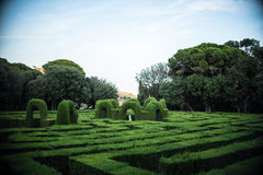 Maze Park in Barcelona Royalty Free Stock Photo