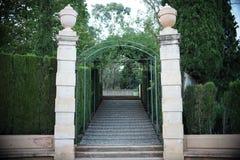 Maze Park i Barcelona Arkivfoto