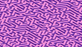 Maze pattern abstract background with labyrinth for poster or wallpaper royalty free illustration