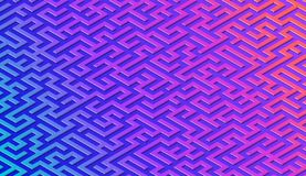 Maze pattern abstract background with vibrant labyrinth for poster or wallpaper royalty free illustration