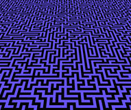 Maze pattern inifinite view Royalty Free Stock Photography