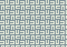 Maze Pattern on Pastel Color Royalty Free Stock Photography