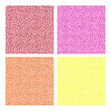 Maze pattern set. Warm color (red, pink, orange and yellow) maze pattern set on the white background Stock Photo