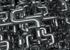 Maze of pipes background Royalty Free Stock Photo