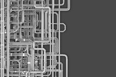 Maze of pipes background royalty free illustration