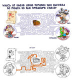 Maze with Pirates children. Stock Images