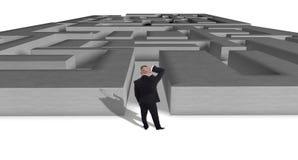 Maze problem Stock Photos