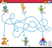 Maze puzzle activity for kids Stock Images