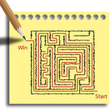 Maze puzzle game Royalty Free Stock Photo