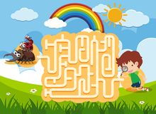 A Maze Puzzle Game vector illustration