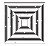 Maze Puzzle Illustration Stock Images