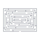 Maze puzzle labyrinth rectangular blue on white Stock Photography