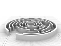 Maze puzzle solved Stock Photo