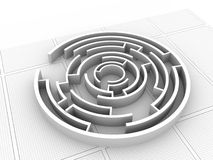 Maze puzzle solved Stock Photos