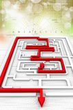 Maze puzzle solved Royalty Free Stock Photos