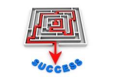Maze puzzle success Royalty Free Stock Photos