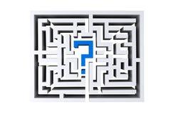 Maze question mark.  Royalty Free Stock Photos