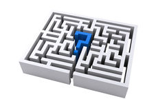 Maze question mark.  Stock Image