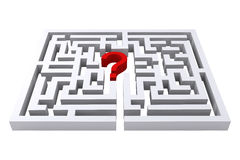 Maze question mark. On a white background Stock Photo