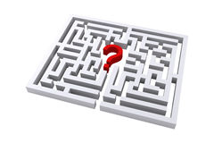Maze question mark. On a white background Royalty Free Stock Images