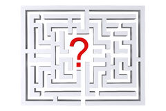 Maze question mark. On a white background Stock Photos